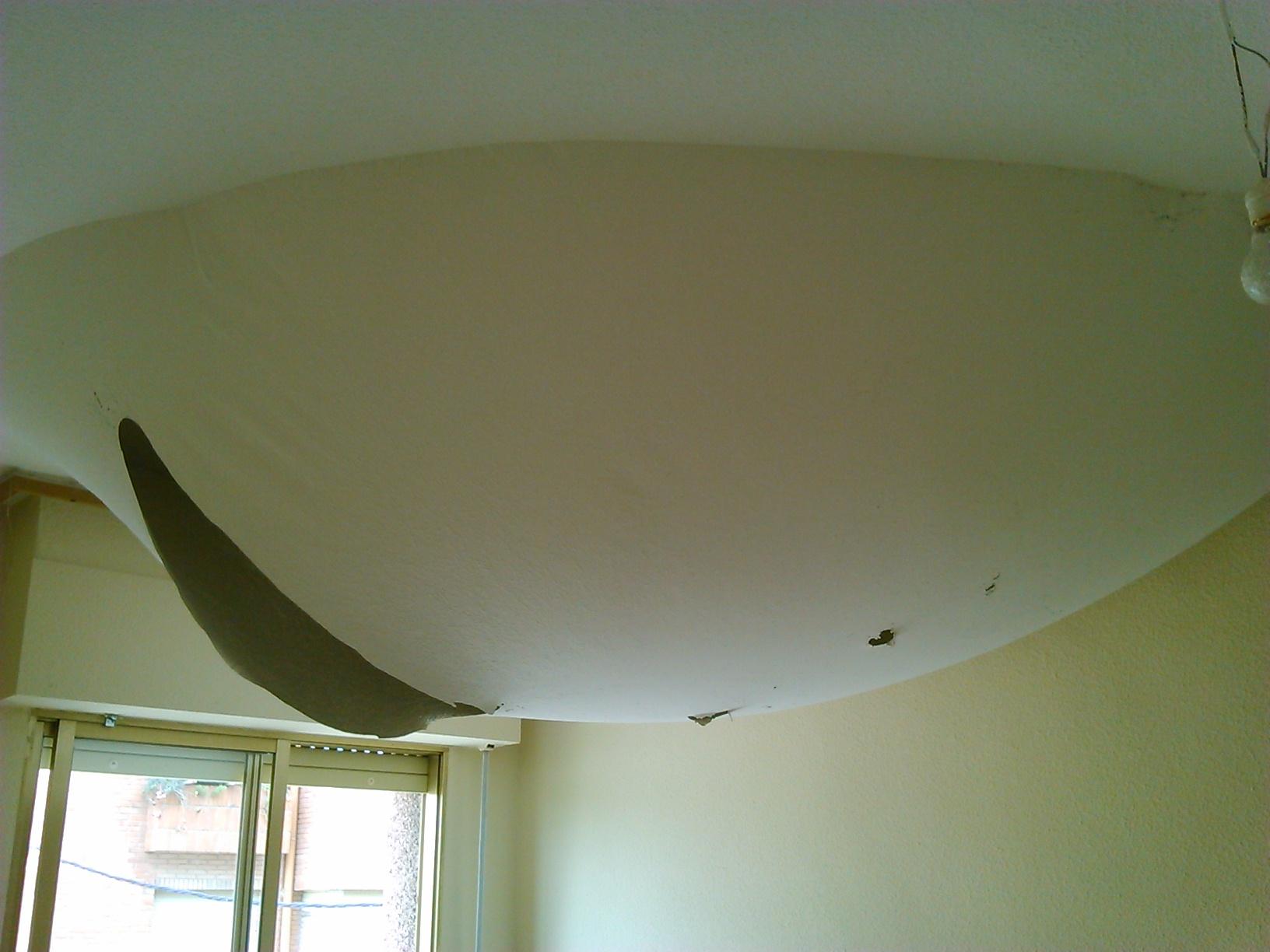 Reparación burbuja de techo