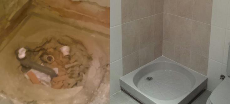 Cambio de plato de ducha