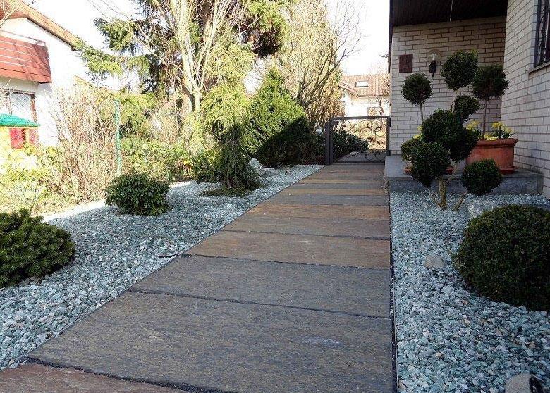 Jardines a punto con suelos de pizarra servihogarservihogar - Suelos de jardin exterior ...